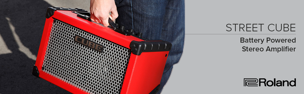 Cube street, amplifier, vocal, stereo, performance, battery, portable