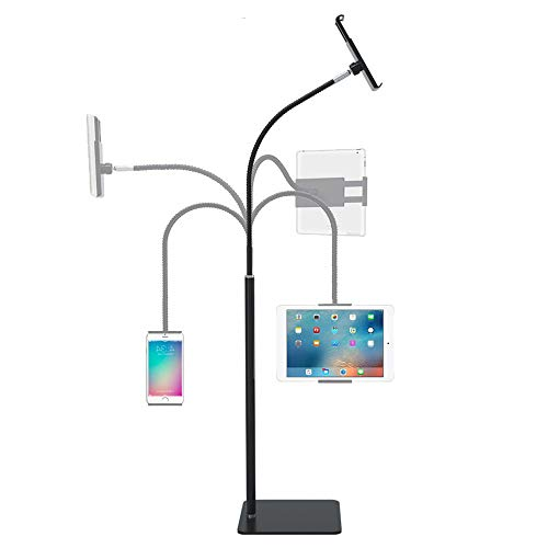 Tablet Floor Stand Gooseneck Tablet Holder Compatible with iPad Mini Air Pro 12.9