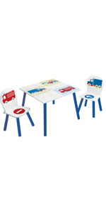 Vehicles Table & Chairs Set