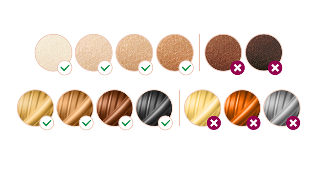 Suitable Hair and Skin Types