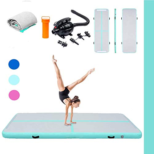 Triclicks Inflatable Air Tumble Track Gymnastics Mat With Electric Air Pump | Tumbling Mat Flooring Mat Yoga Mat Training Mat | Portable Home Taekwondo Exercise Sport Fitness Mat