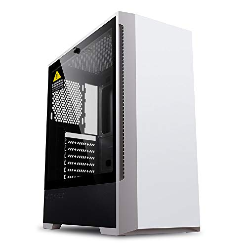 GOLDEN FIELD - P2W ATX/Micro ATX/ITX White Computer PC Gaming Case Tempered Glass Side Windows For Desktop Computer PC