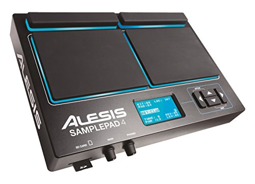 Alesis Sample Pad 4 - Compact Percussion and Sample Triggering Instrument with 4 Velocity Sensitive Pads