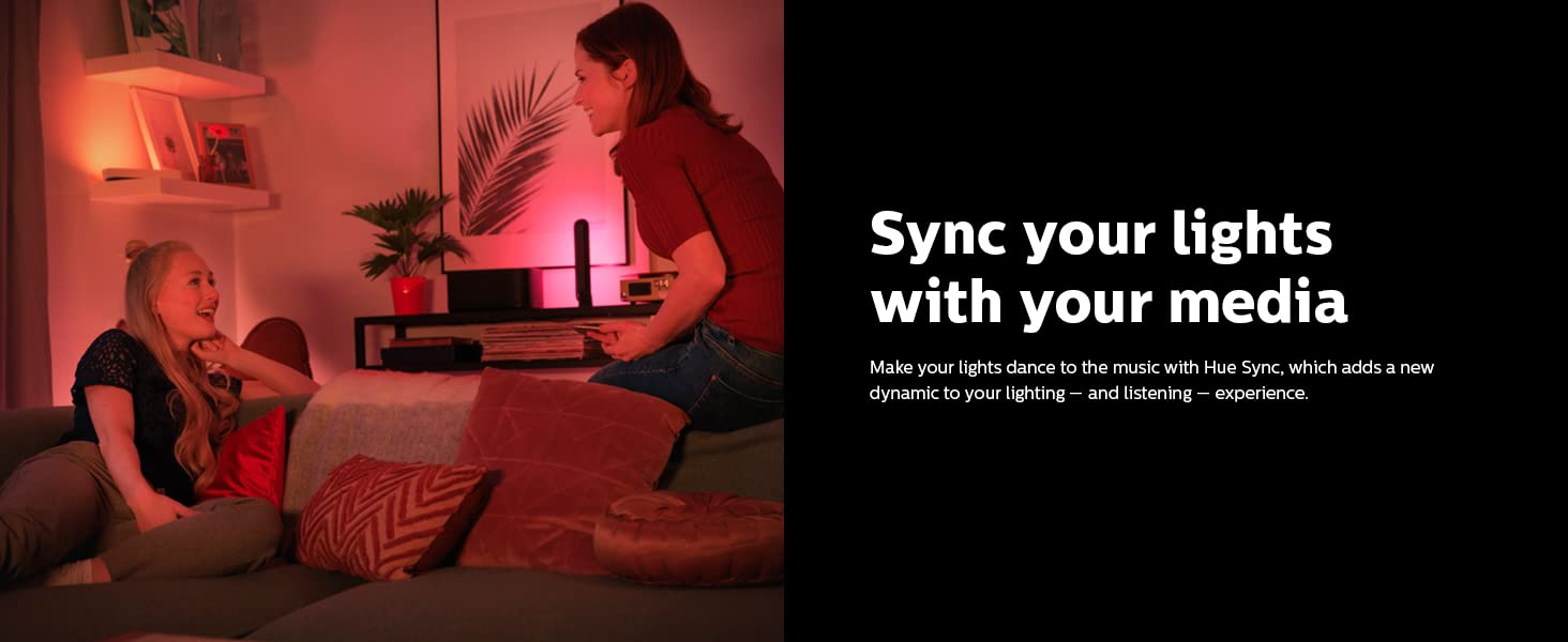 Hue Sync your lights with media