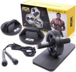 ASM Fitness Box- Ab Wheel Roller with Thick Knee Pad Mat