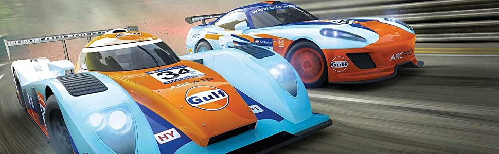 gULF rACINF sLOT sCALEXTRIC SET