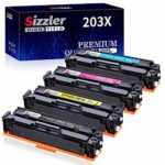 Sizzler Compatible 203X Toner Cartridges Replacement for HP 203X 203A Toner Work with HP Color Laserjet Pro M254 M254dw M254nw