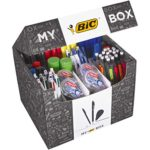 My BIC Box Stationery Gift Set and Variety Pack - Box of 124 Essential Stationary Products in Convenient Box for Home Office or Gifts