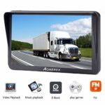 Aonerex 9 Inch GPS Navigation System Pre-Installed Newest UK Europe Maps with Lifetime Free Map Updates for Car Truck Lorry Motorhome POI Search