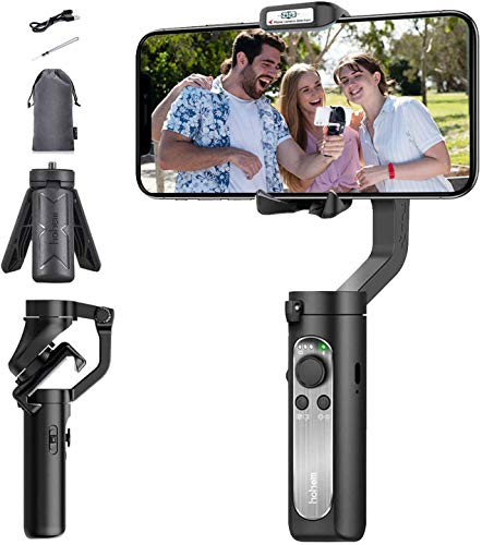 Hohem iSteady X Ultra-lightweight Foldable Handheld 3-Axis Gimbal Stabiliser for iPhone and Android Smartphone - Black ISX01B