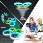 Quadcopter with Blue & Green Lights