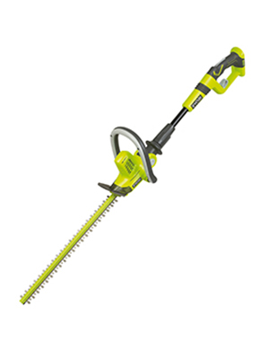 ryobi, one+, cordless hedge trimmer
