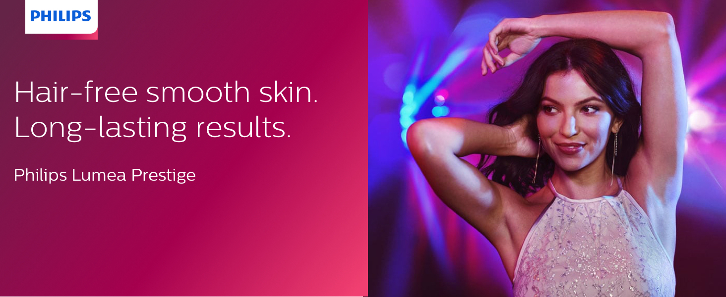 Philips Lumea Prestige, hair-free smooth skin, long-lasting results with IPL technology