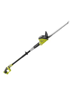 ryobi, one+, cordless , pole hedge trimmer