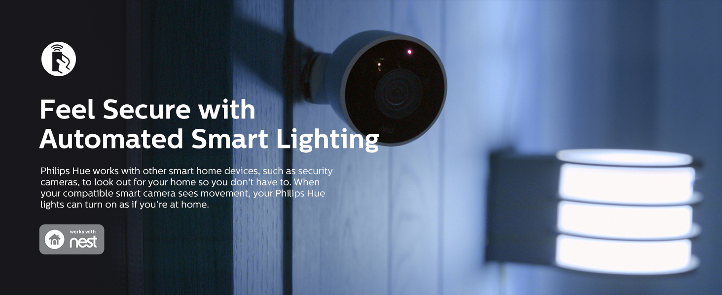 Philips Hue Feel Secure with Smart Automated Lighting