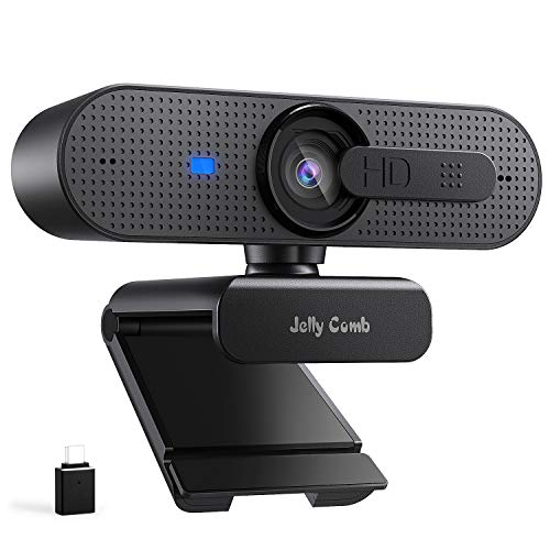 Jelly Comb HD 1080P PC Webcam with Type C Adapter