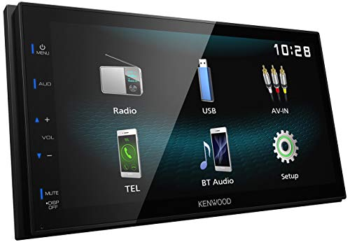 """Kenwood DMX120BT Digital Media Receiver with 6.8"""" High Gloss Touch Panel"""