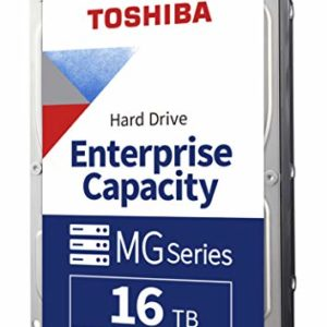 Toshiba MG Series 16 TB Enterprise Capacity Hard Drive 3.5 Inch SATA 6 Gbit/s 7200 RPM