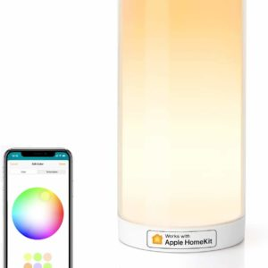 HomeKit Touch Bedside Table Lamp -Meross LED Night Light Compatible with Alexa