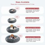 Comfortable Fluffy Donut Dog Beds 4 Sizes for Sweet Warm Sleeping