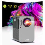 Android TV 9.0 Smart Projector WiFi Bluetooth Artlii Play Portable Projector Full HD 1080p Support Dolby 4D ±45° Keystone Correction 70