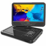 "WONNIE 2021 Upgrade 12.5"" Portable DVD Player with 10.5 inches 270° Swivel Screen Built-in 6 Hrs Rechargeable Battery SD Card and USB"