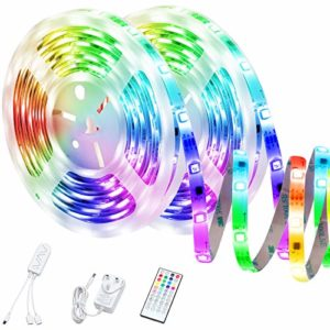 WiFi Smart Strip Lights Dreamcolor Light Strip 39.3ft Music Sync Rope Lights with Timer and Remote