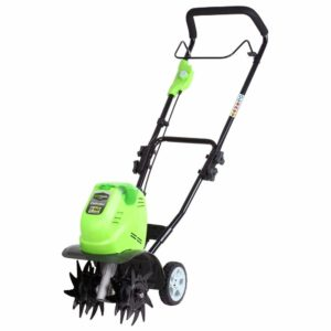 Greenworks battery-powered tiller G40TL (Li-Ion 40 V battery-powered tiller with specially hardened 4 blades working depth 20 cm working width 26 cm without battery and charger)