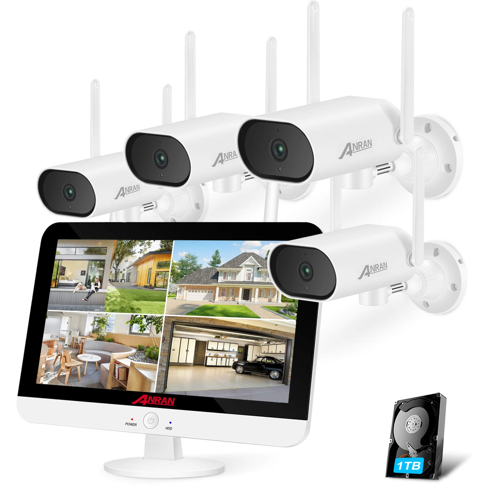 【Pan Control】Wireless CCTV Camera Systems with Monitor Audio