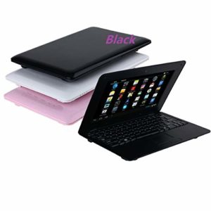 BIGMAC 10.1 Inch Quad Core 8GB Computer Laptop PC Android 6.0 Mini Netbook Slim and Lightweight Notebook WiFi Webcam Netflix YouTube Google Player Flash (Black)