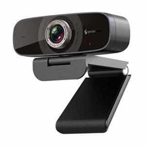 Angetube Streaming Webcam with Microphone Full HD 1080P Web Camera 100°Wide-Angle View Web Cam Compatible with Windows Android Ios Linux for Skype Facebook Xbox one for Desktop Computer PC Mac