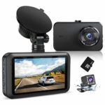 """Dash Cam Front and Rear with SD Card FHD 1080P 3""""IPS Screen Dual Camera Dash Cams DVR Car Driving Recorder 170°Wide Angle HDR Dashboard Camera Night Vision Parking Mode Motion Detection Loop Recording"""