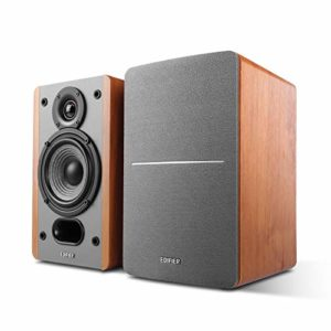 Edifier P12 Passive Bookshelf Speakers - 2-way Speakers with Built-in Wall-Mount Bracket - Wood Color - Pair - Needs amplifier or receiver to operate - Receiver/Amplifier Sold Separately