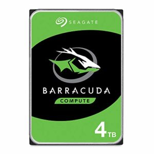 Seagate BarraCuda 4 TB Internal Hard Drive HDD – 3.5 Inch SATA 6 GB/s 5400 RPM 256 MB Cache for Computer Desktop PC – Frustration Free Packaging (ST4000DMZ04)