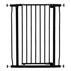 Dreambaby Liberty Extra-Tall Baby Safety Gate - Pressure Mounted Security Gates - Fits Openings from 75-81cm Wide - 93cm Tall - Black - Model G1962