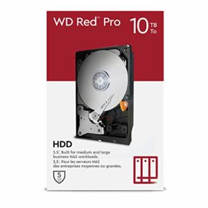"WD Red Pro 10TB NAS 3.5"" Internal Hard Drive - 7200 RPM Class"