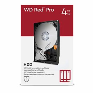 "WD Red Pro 4TB NAS 3.5"" Internal Hard Drive - 7200 RPM Class"