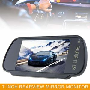 7 Inch 16:9 2-Channel Video Input Car RGB Digital Display Rear View VCR Monitor with Touch Button