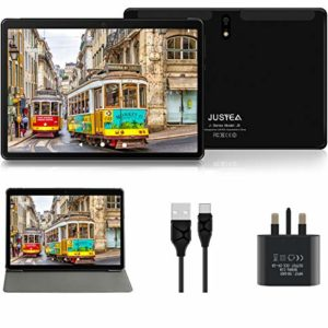Tablet 10 inch Android 10.0 Tablets Ultra-portable - 64GB Expandable | RAM 4GB - JUSYEA J5-8000mAh Battery - WIFI Case | Protective Film-Black