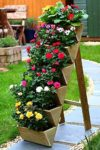 Strawberry & Flower Garden Planter | 6-Box | Pressure Treated Wood
