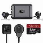VIOFO MT1 Motorcycle Dash Cam Front and Rear 1080P Dual Channel Waterproof Motorbike Camera 170 Degree Angle