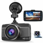 Claoner Dash Cams for Cars Front and Rear 1080P Full HD Dashcam