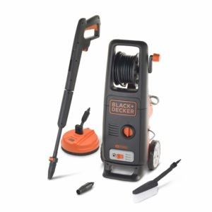 Black+Decker BXPW1800XE High Pressure Washer with Patio Cleaner and Fixed Brush (1800 W