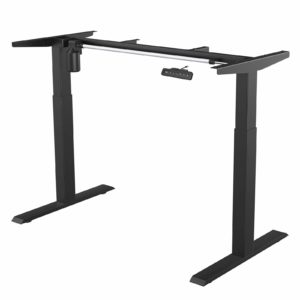 MAIDeSITe Height Adjustable Electric Standing Desk Frame Two-Stage with Heavy Duty Steel Stand up Desk Computer Desk with Automatic Memory Smart Pannel (Black)