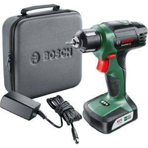 Bosch 06039B3070 EasyDrill 12 Cordless Drill/Driver with Integrated 12 V Lithium-Ion Battery and Soft Bag