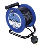 Masterplug LDCC2513/4BL-MP Four Socket Medium Open Cable Reel Extension Lead with Handle
